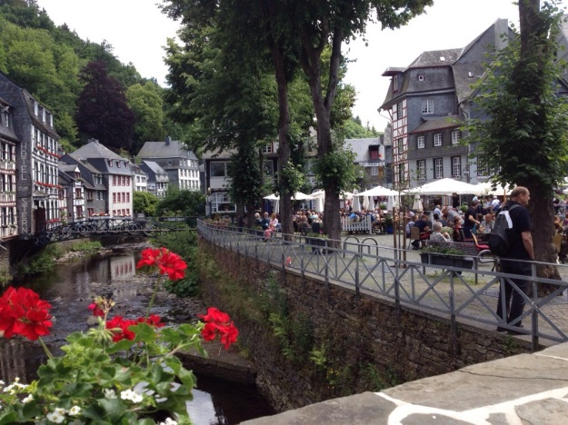 Monschau - a beautiful German town on the border with Belgium